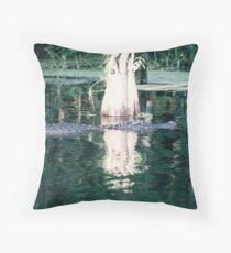 Wakulla River Gator Throw Pillow