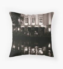 Leiden At Dusk  Throw Pillow