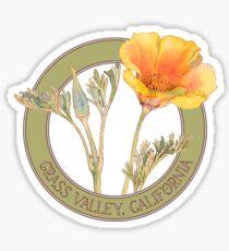 Grass Valley Poppy Sticker