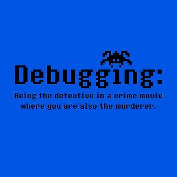 Debugging Definition - Funny Geek Design (Black) by SWISH-Design