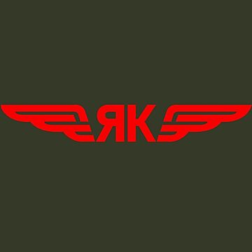 Yakovlev Aircraft Logo    Red by warbirdwear