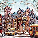 LA GARE WINDSOR CPR OFFICES DOWNTOWN MONTREAL PAINTINGS CANADIAN LANDMARK by Carole  Spandau