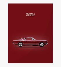 Mustang Fastback Photographic Print