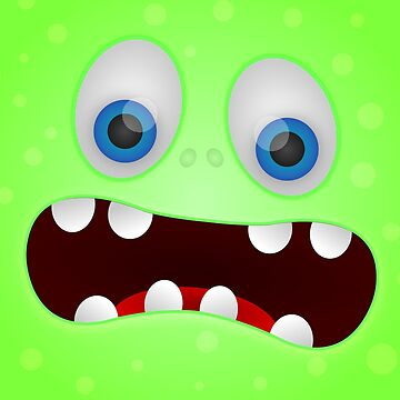 Green Monster Face Vector by Jake1515
