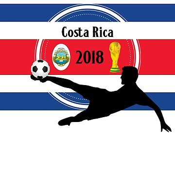 Costa Rica 2018 Football Design T-shirt by Stefanoprince84