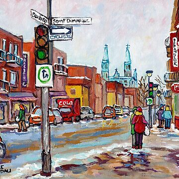 ROSEMONT LA PETITE PATRIE MONTREAL NEIGHBORHOOD MAJOR COMMERCIAL STREET RUE BEAUBIEN  by CaroleSpandau