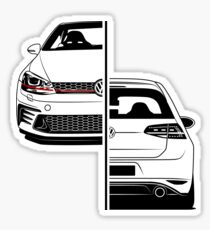 Golf Clubsport GTI Best Shirt Design Sticker