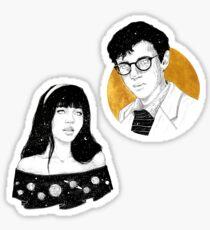 Violet and Klaus / Malina Weissman and Louis Hynes  Sticker