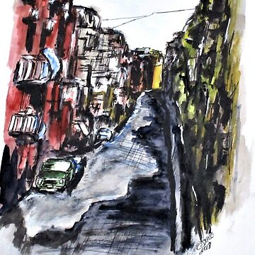 Naples City Street by cjkell