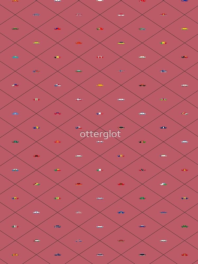 Mustache Flags - Wine by otterglot