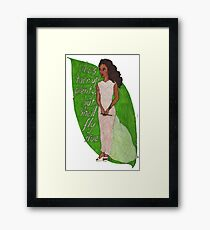 Zoe, Saying Goodbye Framed Print