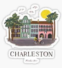 Charleston South Carolina Regenbogen Zeile Sticker