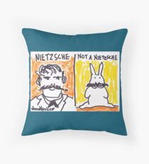 Nietzsche - Not a Nietzsche Throw Pillow