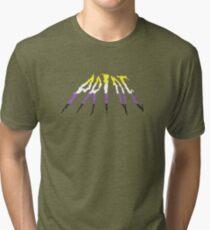 Non Binary Pride Metal Logo Tri-blend T-Shirt