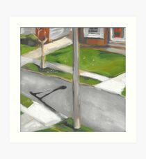 street from my window  Art Print