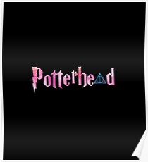 Blue watercolors hallows and pink watercolors potterhead adn hallows - HP Poster