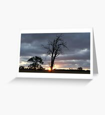 Last light before glow Greeting Card