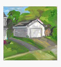 neighbor's garage  Photographic Print