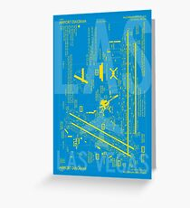 LAS Las Vegas Airport Diagram | Aviation Art Gift for Airport Buff, Frequent Flyer, Travel Fanatic Greeting Card