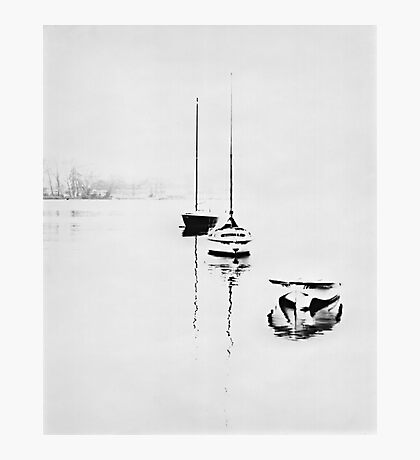 Lake Lucerne In The Fog Photographic Print