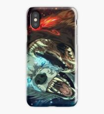 Fire And Ice Wolves iPhone Case