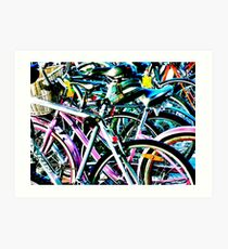 Contrasty Bikes Art Print