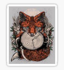 Fox Clock Sticker