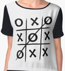 Noughts and Crosses Game Chiffon Top
