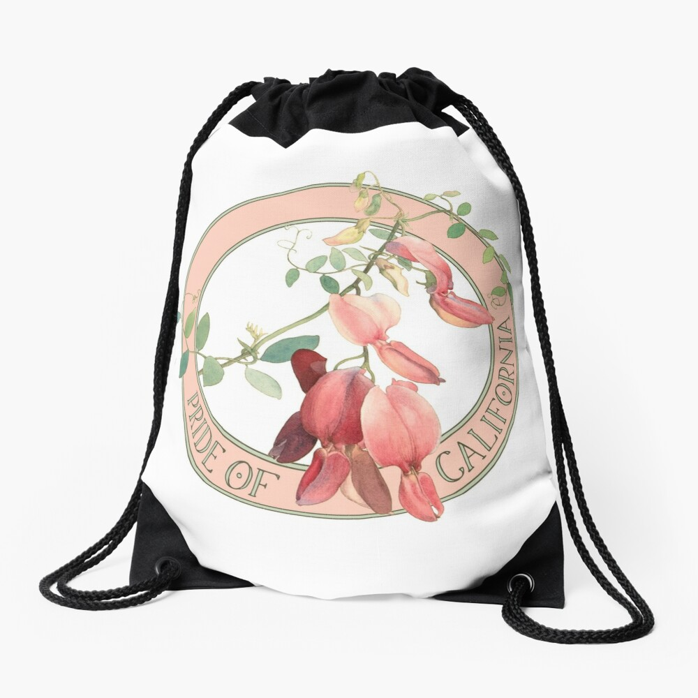 Pride of California Drawstring Bag