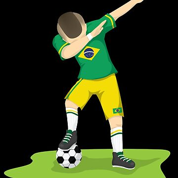 Dabbing Brazilian Soccer| soccer player gift | soccer coach gift | team soccer gifts | soccer gifts for him | soccer shirts | soccer gift ideas | futbol | soccer shirts for her by qtstore12