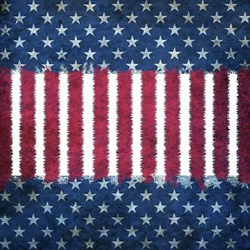 Cool Distressed American Flag Inspired Design by Greenbaby