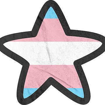 trans pride star by oddishes