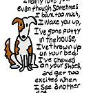 A dog's love, a Scruff-N- Fluff card by ginamitch