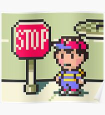 Stop Sign from Earthbound Poster
