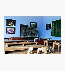 The School with Blue Walls - Hoi An, Vietnam. Photographic Print