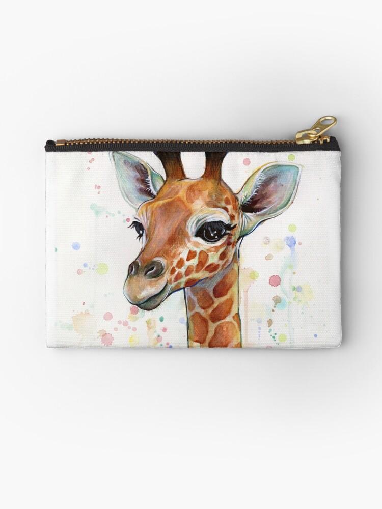 Baby Giraffe Watercolor Painting, Nursery Art by Olga Shvartsur
