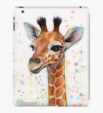 Baby Giraffe Watercolor Painting, Nursery Art iPad Case/Skin