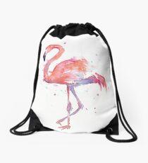 Rosa Flamingo-Aquarell-Illustration Turnbeutel