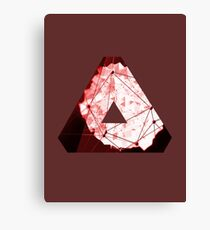 Abstract Geometry: Blood Ruby (Dark Red) Canvas Print