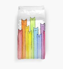 Rainbow of Cats Duvet Cover