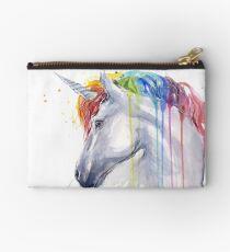Rainbow Unicorn Watercolor Studio Pouch