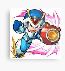 Chibi Megaman X / Rockman X w/ Light Armor Metal Print