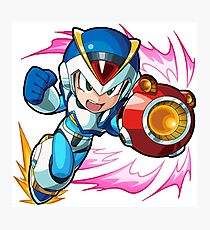 Chibi Megaman X / Rockman X w/ Light Armor Photographic Print