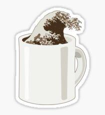 Cup O' Hokusai Sticker