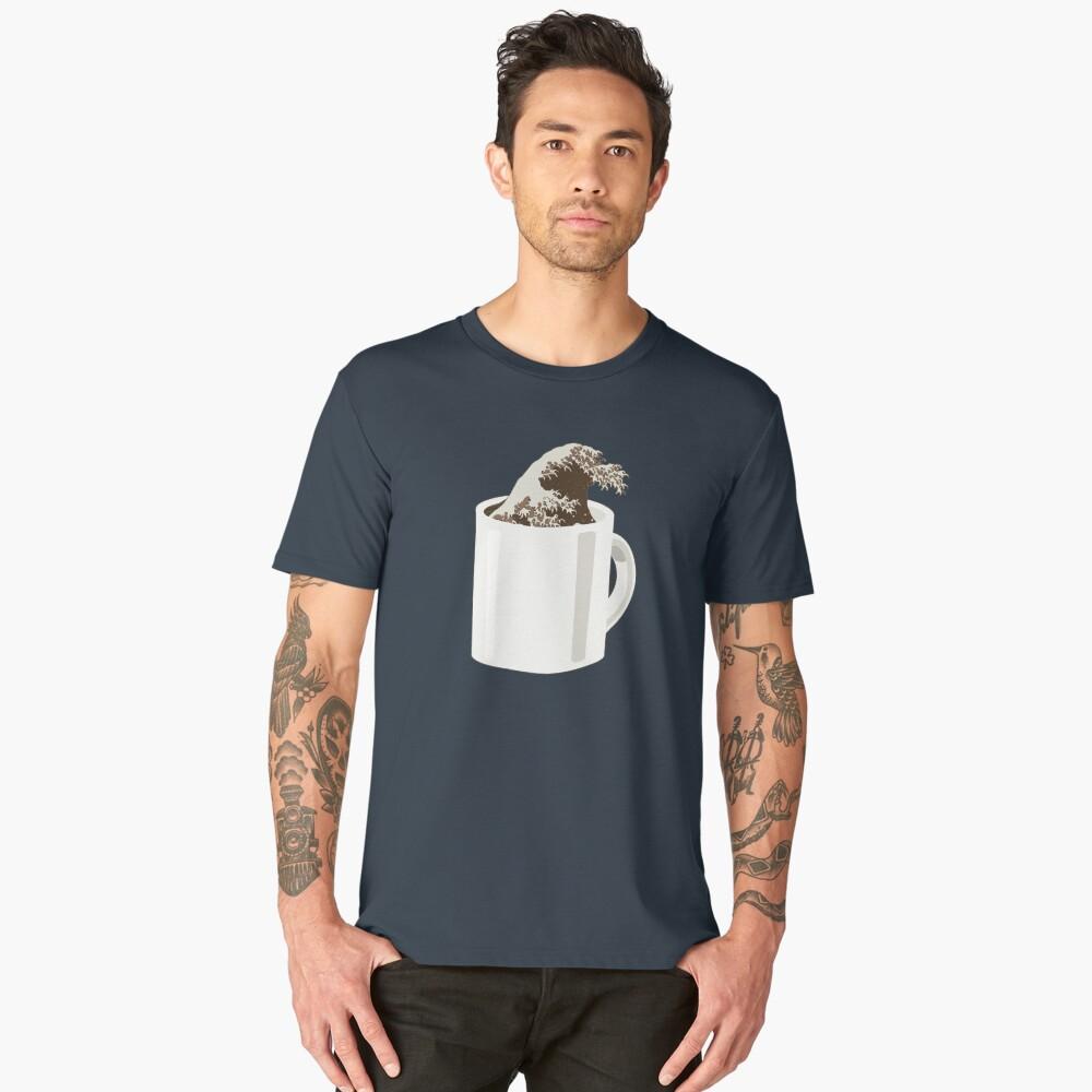 Cup O' Hokusai Men's Premium T-Shirt Front