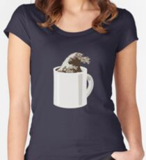 Cup O' Hokusai Women's Fitted Scoop T-Shirt