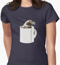 Cup O' Hokusai Women's Fitted T-Shirt