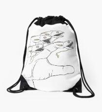 Freaky Fish Fingers Drawstring Bag