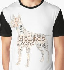 Sherlock Holmes Hound of the Baskervilles Graphic T-Shirt