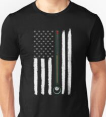 American Flag Billiards Play Pool  Unisex T-Shirt